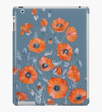 Vinilo o funda para iPad Arte botánico floral de amapolas