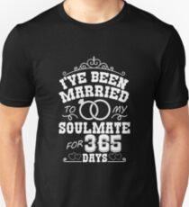 1st Wedding Anniversary Gift T-shirt. Couples Gifts Unisex T-Shirt