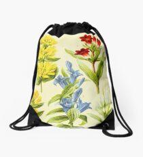HD Vintage flowery bouquet design number 29~ Drawstring Bag