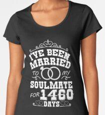 4th Wedding Anniversary Gift T-shirt. Couples Gifts Women's Premium T-Shirt