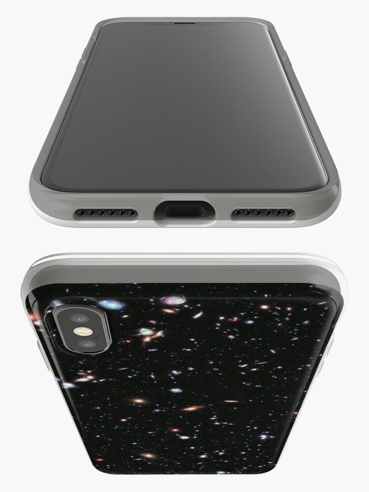 Alternative Ansicht von Hubble, COSMOS, Nasa, extremes tiefes Feldbild, Raum, Konstellation, Fornax iPhone-Hüllen & Cover