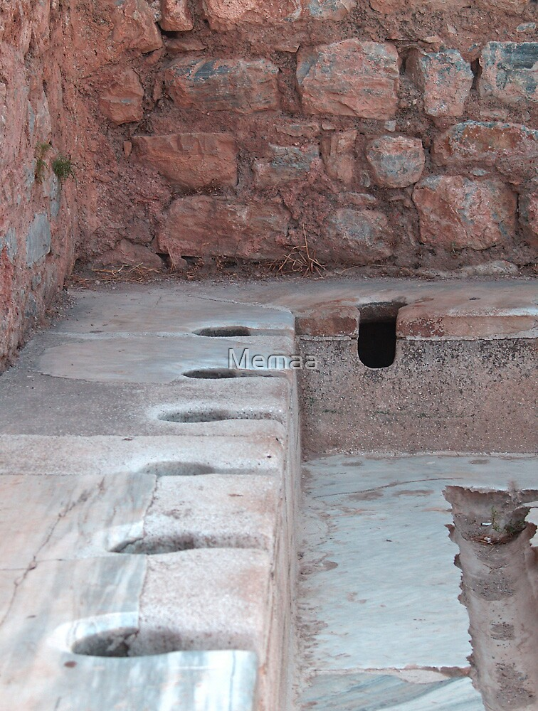 Roman Communal Commodes in Ephesus by Memaa