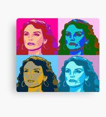 Warholized Elaine Marley Canvas Print