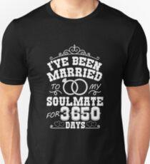 10th Wedding Anniversary Gift T-shirt. Couples Gifts Unisex T-Shirt