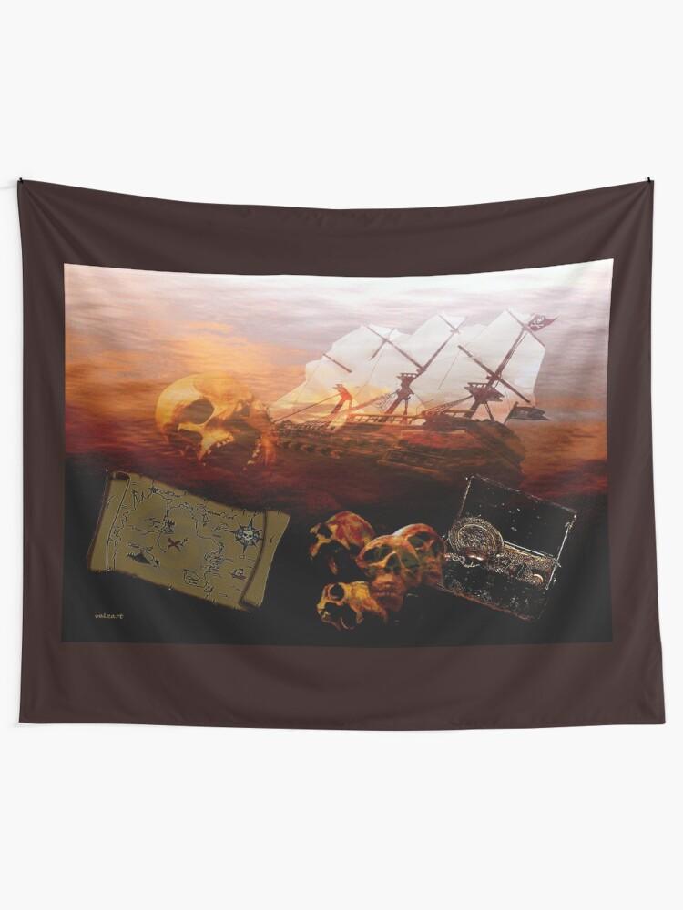 Alternate view of Ye be warned  Tapestry