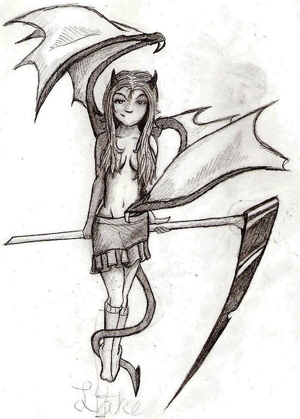 devil girl by sketchpad