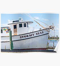 Stormy Seas, Fishing Vessel Poster