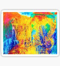 Imaginaere Landschaft oil painting Sticker