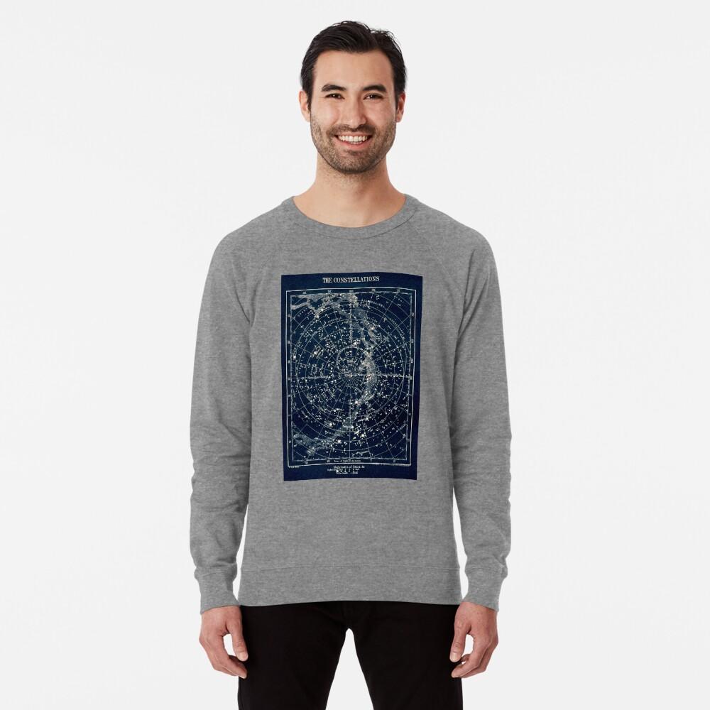 DIE STERN-KONSTELLATIONEN: Weinlese-Galaxie-Druck 1900 Leichtes Sweatshirt