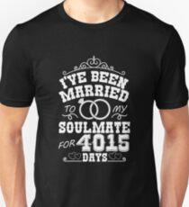 11th Wedding Anniversary Gift T-shirt. Couples Gifts Unisex T-Shirt
