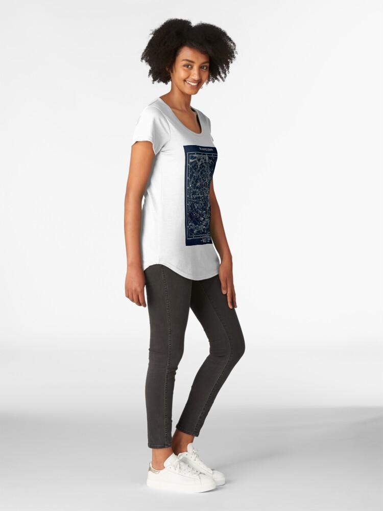 Alternative Ansicht von DIE STERN-KONSTELLATIONEN: Weinlese-Galaxie-Druck 1900 Frauen Premium T-Shirt