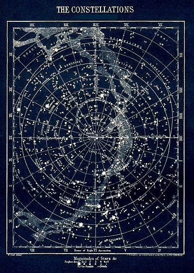« LES CONSTELLATIONS STAR: Vintage 1900 Galaxy Print » par posterbobs