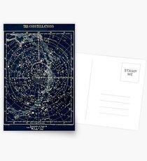 THE STAR CONSTELLATIONS : Vintage 1900 Galaxy Print Postcards