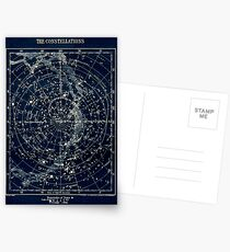 THE STAR CONSTELLATIONS : Vintage 1900 Galaxy Print Postcards