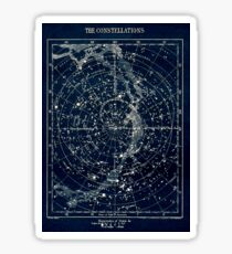 THE STAR CONSTELLATIONS : Vintage 1900 Galaxy Print Sticker