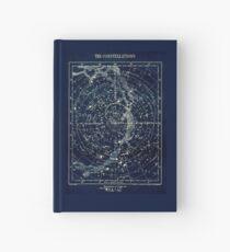 DIE STERN-KONSTELLATIONEN: Weinlese-Galaxie-Druck 1900 Notizbuch