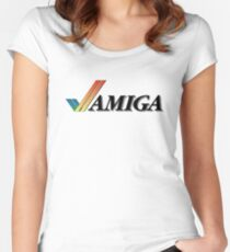amiga logo Women's Fitted Scoop T-Shirt