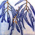"""Blue Gums 8 - Monoprint by Belinda """"BillyLee"""" NYE (Printmaker)"""