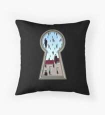 """""""Magritte from the lock"""" Throw Pillow"""