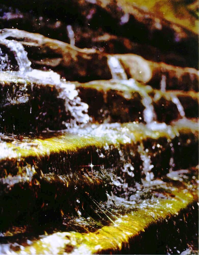 Green waterfall by Jim DeMore