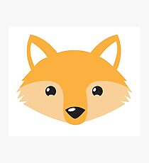 cute happy fox face Photographic Print