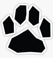 Large black sharp cat paw print Sticker