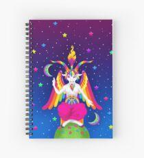 Cuaderno de espiral 1997 Neon Rainbow Baphomet