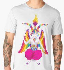 1997 Neon Rainbow Baphomet NOW WITH GOAT/UNICORN NIPPLES Men's Premium T-Shirt