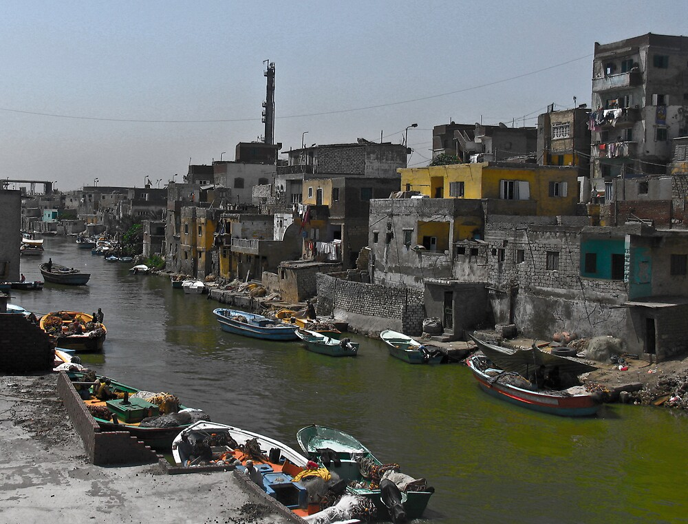 Colorless water with colored houses by Amir Sourial