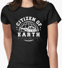 Earth Dimension C-137 Women's Fitted T-Shirt