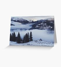 The Mountains are Calling - Snowy Austrian Landscape Greeting Card