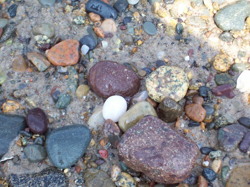 The Rocks at Humarock Beach by Marcia Plante