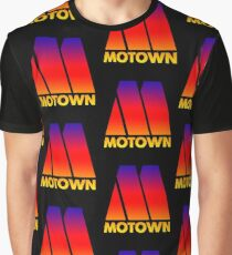 MOTOWN DISCO RECORDS (SUNSET) Graphic T-Shirt