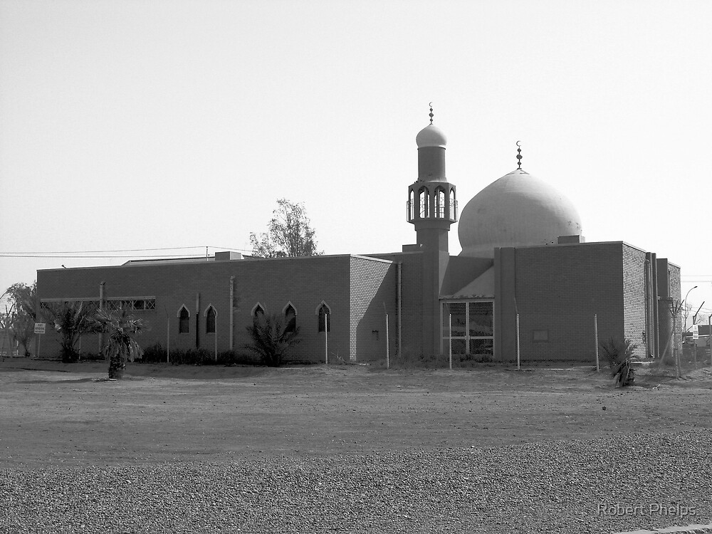 Mosque in Black & White by Robert Phelps