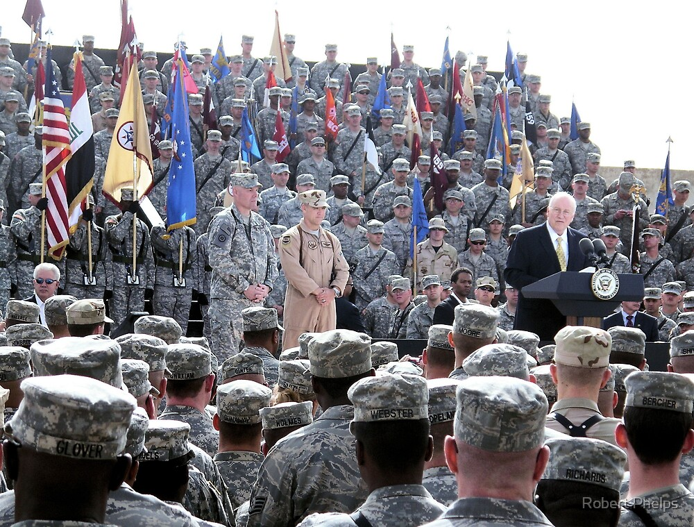 The VP visits the Troops by Robert Phelps