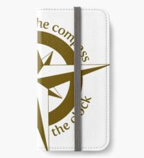 Live by the compass, not the clock iPhone Wallet/Case/Skin
