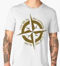 Live by the compass, not the clock Men's Premium T-Shirt