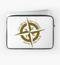 Live by the compass, not the clock Laptop Sleeve