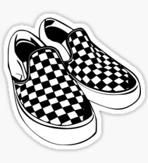 Vans Checkerboard Classic Slip On Shoes Sticker