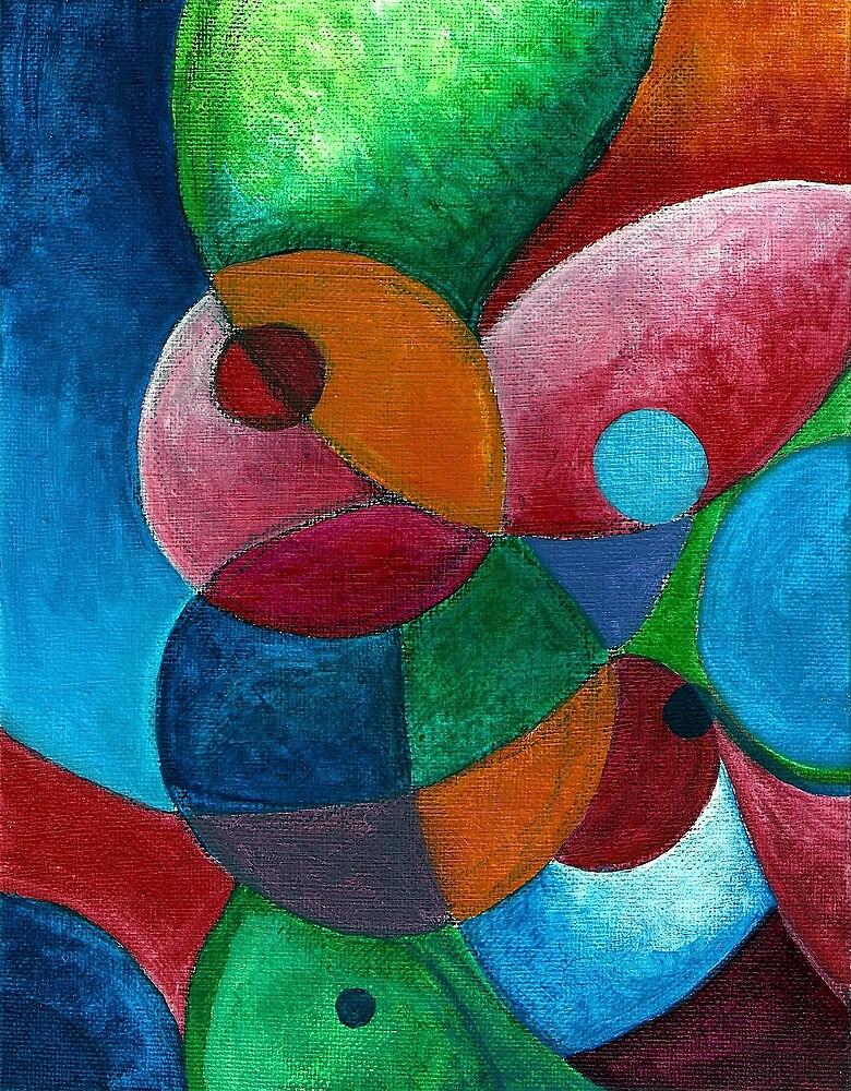 Molecular #4 (Acrylics)- by Robert Dye