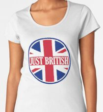 Just British Motoring Magazine Round Logo Women's Premium T-Shirt