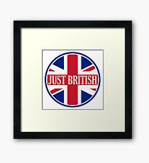 Just British Motoring Magazine Round Logo Framed Print