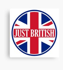 Just British Motoring Magazine Round Logo Canvas Print