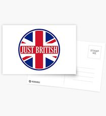 Just British Motoring Magazine Round Logo Postcards