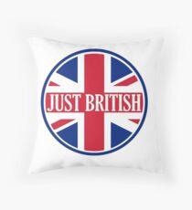 Just British Motoring Magazine Round Logo Throw Pillow