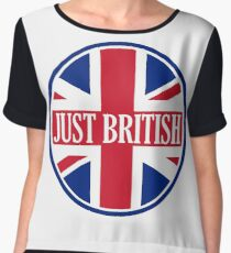 Just British Motoring Magazine Round Logo Chiffon Top
