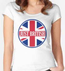 Just British Motoring Magazine Round Logo Women's Fitted Scoop T-Shirt