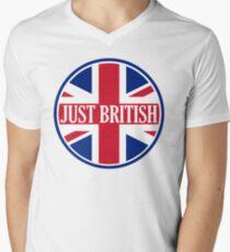 Just British Motoring Magazine Round Logo Men's V-Neck T-Shirt