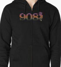 908 New Jersey Sunset Gradient Zipped Hoodie