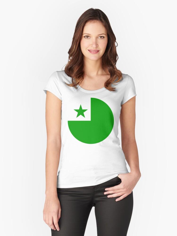 Esperanto Women's Fitted Scoop T-Shirt Front